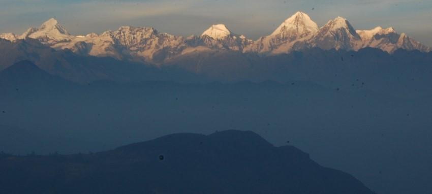 Trek du circuit de Helambu - Magnifique Vue sur les montagnes de la vall