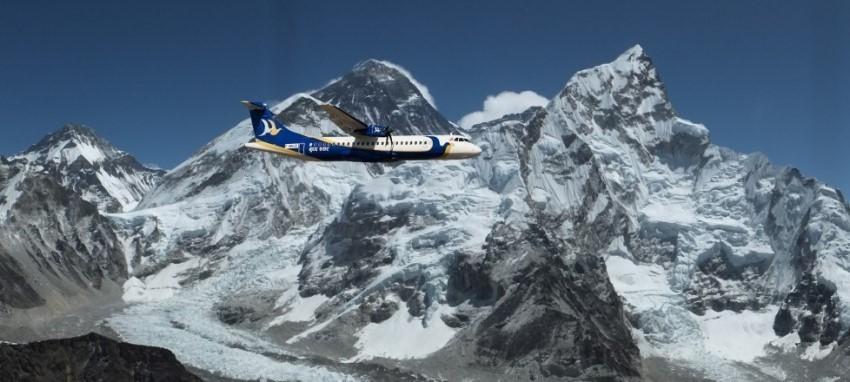 Полеты над горами - Mountain flight in Mt. Everest region