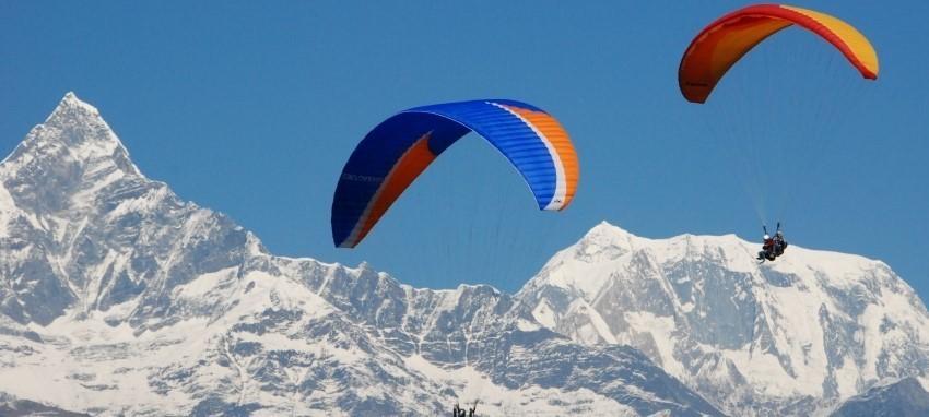 Параглайдинг - Paragliding In Nepal