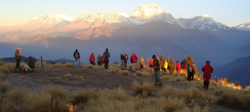 Ghorepani Poon Hill Trek - Sunrise View from Poonhil