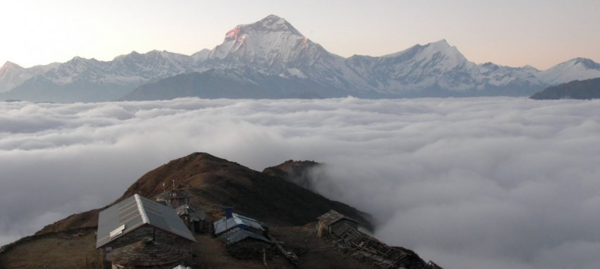 Khayar Lake Trek -  View  from  Khayer lake  Trekking-khopra danda and  View of  Mt. Dhaulagiri